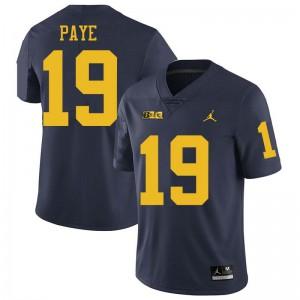 Michigan Wolverines #19 Kwity Paye Men's Navy College Football Jersey 473281-335