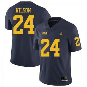 Michigan Wolverines #24 Tru Wilson Men's Navy College Football Jersey 253929-292