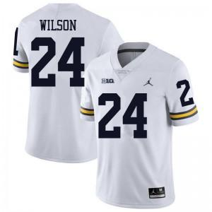 Michigan Wolverines #24 Tru Wilson Men's White College Football Jersey 372949-117