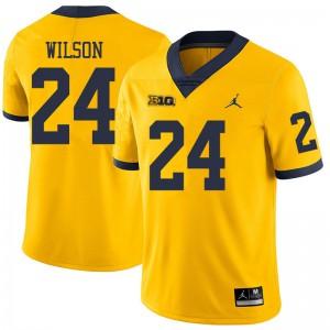 Michigan Wolverines #24 Tru Wilson Men's Yellow College Football Jersey 925054-889