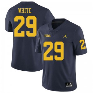 Michigan Wolverines #29 Brendan White Men's Navy College Football Jersey 632434-833