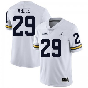 Michigan Wolverines #29 Brendan White Men's White College Football Jersey 365787-358