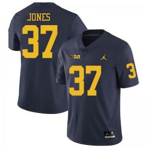 Michigan Wolverines #37 Bradford Jones Men's Navy College Football Jersey 885703-319