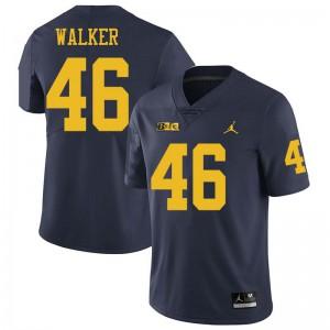 Michigan Wolverines #46 Kareem Walker Men's Navy College Football Jersey 185411-275