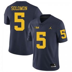 Michigan Wolverines #5 Aubrey Solomon Men's Navy College Football Jersey 134522-811