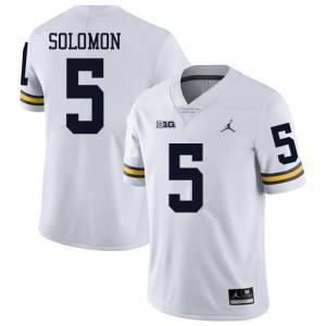 Michigan Wolverines #5 Aubrey Solomon Men's White College Football Jersey 470094-597