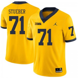 Michigan Wolverines #71 Andrew Stueber Men's Yellow College Football Jersey 301848-788