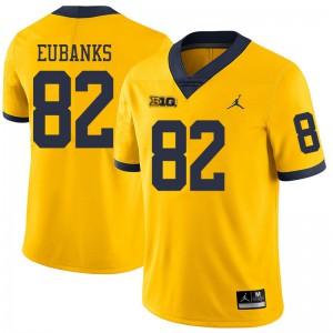 Michigan Wolverines #82 Nick Eubanks Men's Yellow College Football Jersey 562195-404