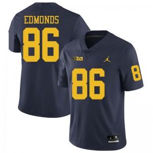 Michigan Wolverines #86 Conner Edmonds Men's Navy College Football Jersey 251926-266