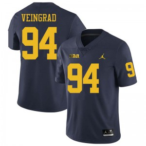 Michigan Wolverines #94 Ryan Veingrad Men's Navy College Football Jersey 373240-682