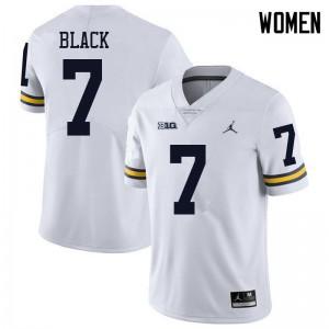 Michigan Wolverines #7 Tarik Black Women's White College Football Jersey 558591-532
