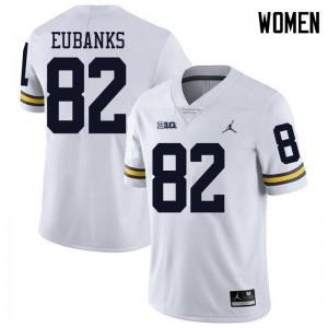 Michigan Wolverines #82 Nick Eubanks Women's White College Football Jersey 846123-706