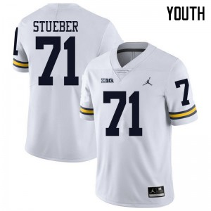 Michigan Wolverines #71 Andrew Stueber Youth White College Football Jersey 437047-315