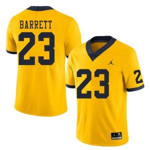 Michigan Wolverines #23 Michael Barrett Men's Yellow College Football Jersey 930012-489