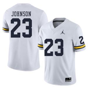 Michigan Wolverines #23 Quinten Johnson Men's White College Football Jersey 312962-823