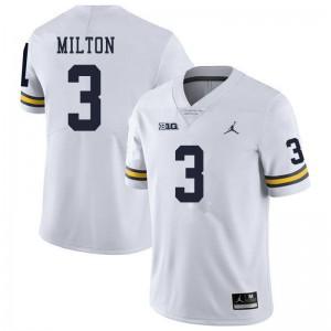 Michigan Wolverines #3 Joe Milton Men's White College Football Jersey 168006-166