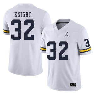 Michigan Wolverines #32 Nolan Knight Men's White College Football Jersey 599252-197