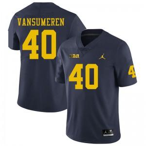 Michigan Wolverines #40 Ben VanSumeren Men's Navy College Football Jersey 347952-305