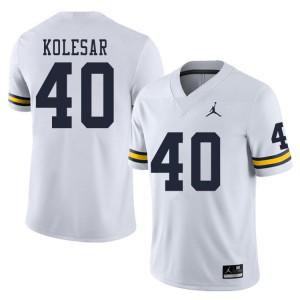 Michigan Wolverines #40 Caden Kolesar Men's White College Football Jersey 216511-952