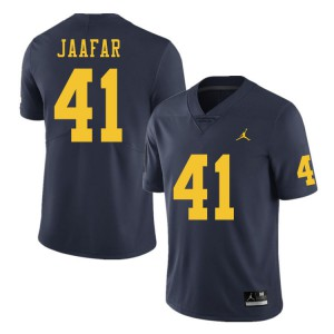 Michigan Wolverines #41 Abe Jaafar Men's Navy College Football Jersey 817222-389