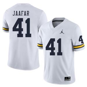 Michigan Wolverines #41 Abe Jaafar Men's White College Football Jersey 672534-908