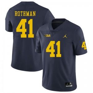 Michigan Wolverines #41 Quinn Rothman Men's Navy College Football Jersey 700014-675