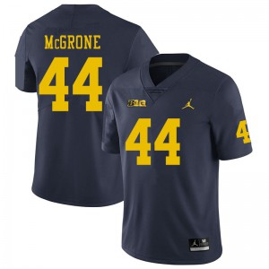Michigan Wolverines #44 Cameron McGrone Men's Navy College Football Jersey 712677-409