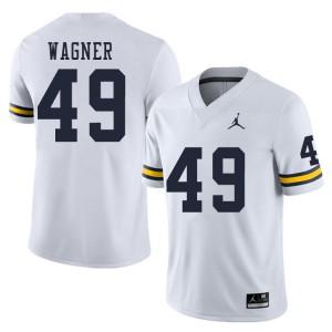 Michigan Wolverines #49 William Wagner Men's White College Football Jersey 228662-341