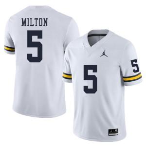Michigan Wolverines #5 Joe Milton Men's White College Football Jersey 281533-742
