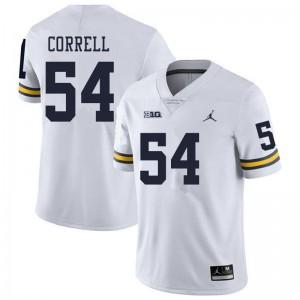 Michigan Wolverines #54 Kraig Correll Men's White College Football Jersey 914866-431
