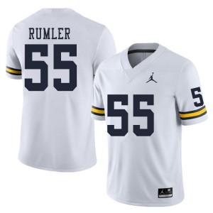 Michigan Wolverines #55 Nolan Rumler Men's White College Football Jersey 763475-639