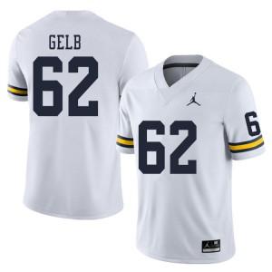 Michigan Wolverines #62 Mica Gelb Men's White College Football Jersey 729279-917