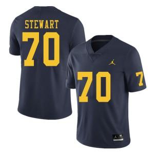 Michigan Wolverines #70 Jack Stewart Men's Navy College Football Jersey 225674-609