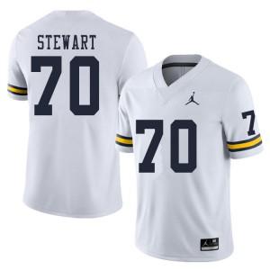 Michigan Wolverines #70 Jack Stewart Men's White College Football Jersey 235024-423