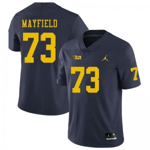 Michigan Wolverines #73 Jalen Mayfield Men's Navy College Football Jersey 224131-419