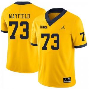 Michigan Wolverines #73 Jalen Mayfield Men's Yellow College Football Jersey 168186-642