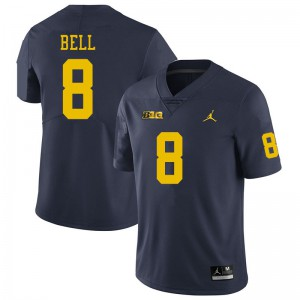 Michigan Wolverines #8 Ronnie Bell Men's Navy College Football Jersey 732728-955