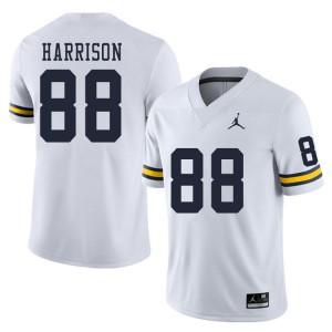 Michigan Wolverines #88 Mathew Harrison Men's White College Football Jersey 196282-128