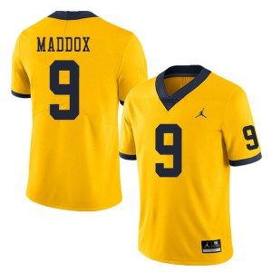 Michigan Wolverines #9 Andy Maddox Men's Yellow College Football Jersey 521438-452