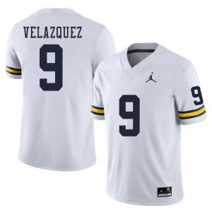 Michigan Wolverines #9 Joey Velazquez Men's White College Football Jersey 732498-897