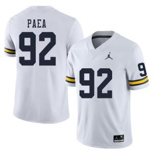 Michigan Wolverines #92 Phillip Paea Men's White College Football Jersey 416729-313