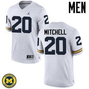 Michigan Wolverines #20 Matt Mitchell Men's White College Football Jersey 181112-415