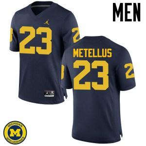 Michigan Wolverines #23 Josh Metellus Men's Navy College Football Jersey 945057-668