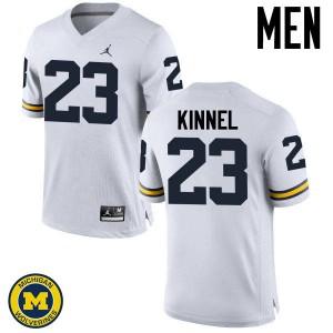 Michigan Wolverines #23 Tyree Kinnel Men's White College Football Jersey 630004-263