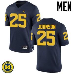 Michigan Wolverines #25 Nate Johnson Men's Navy College Football Jersey 721088-251