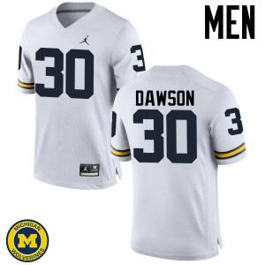Michigan Wolverines #30 Reon Dawson Men's White College Football Jersey 546999-600