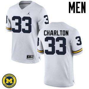 Michigan Wolverines #33 Taco Charlton Men's White College Football Jersey 373332-635
