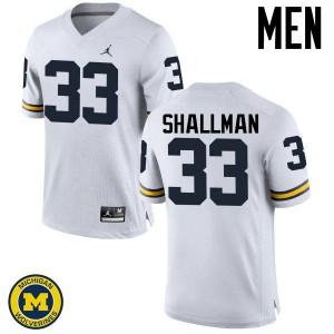 Michigan Wolverines #33 Wyatt Shallman Men's White College Football Jersey 633254-141