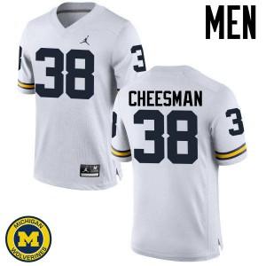 Michigan Wolverines #38 Cameron Cheesman Men's White College Football Jersey 433228-688