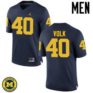 Michigan Wolverines #40 Nick Volk Men's Navy College Football Jersey 420959-540